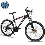 Bicicleta De Montaña De 26 Pulgadas Frenos De Doble Disco Amortiguador Bloqueable Horquilla Delantera Shimano Bicicleta De Montaña De Fibra De Carbono De 27 Velocidades