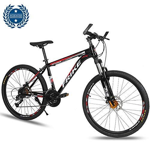 Bicicleta De Montaña De 26 Pulgadas Frenos De Doble Disco Amortiguador Bloqueable...