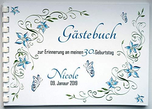 Gästebuch für Geburtstag Einschulung Konfirmation Kommunion Jugendweihe Hochzeit mit Namen...