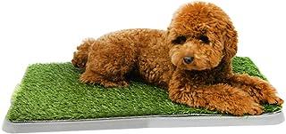 Haobing Cesped Artificial para Perros, Inodoro de Bandeja para Perro Césped Artificial, 3 Capas Lavable (Verde#2, 68 * 43cm)