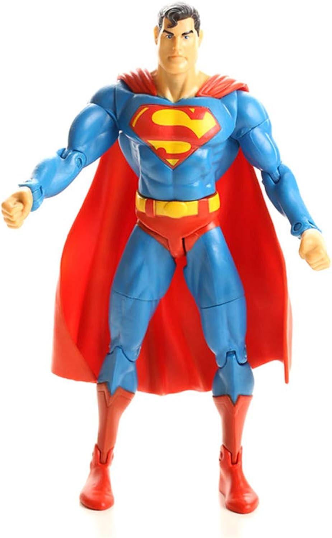 FFLSDR Classic Superman Doll Joint Mobility Model Desktop Anime Decoration 6.6in