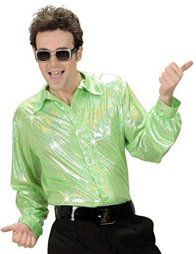 70 Disco purpurina Camisa verde claro: Amazon.es: Juguetes y juegos