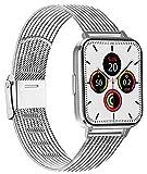 AK Cinturino Compatibile per Apple Watch Cinturino 38mm 40mm 42mm 44mm, Maglia Milanese Cinturino in Acciaio Inossidabile in Metallo per iWatch Serie 5/4/3/2/1