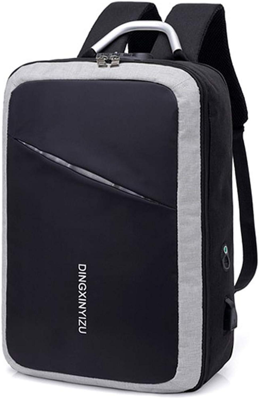 SXSHYUMO Schultertasche Passwortsperre Stereo-diebstahlschutz-Rucksack Multifunktions-laderucksack Groe Kapazitt Nylontuch Computertasche, Nacht Reflektierende Streifen Design