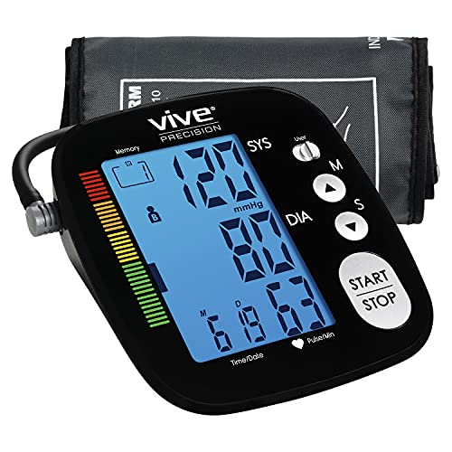 Vive Precision Blood Pressure Machine - Heart Rate Monitor - Automatic...