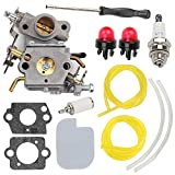 Wellsking C1M-W26C Carburetor for Poulan 545070601 P3314 P3314WS Chainsaw Craftsman PP3516 P3416 P4018 PP3816 PP4218 P4018AV PPB4018 ZAMA Carb Gas Chainsaw with Air Filter