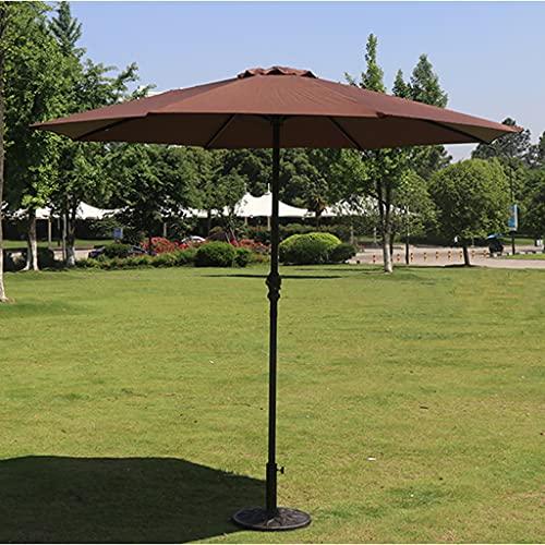 YDDZ Sombrilla al Aire Libre Sombrilla de Pilar Central Plegable para Patio al Aire Libre Sombrilla y a Prueba de Lluvia Diseño de Manivela Fuerte Resistencia al Viento Protección UV