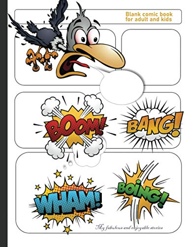 blank comic book for adult and kids: blank comic book | Activity : creates personalized stories | useful for adults , teens, boys and kids | a good gift