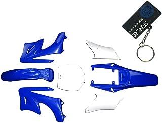 STONEDER Garde boue arri/ère en plastique blanc pour Honda Yamaha Suzuki Kawasaki KTM MX Endure DR DRZ RM RMZ TTR WR XT YZ XR CR CRF KDX KLR KLX