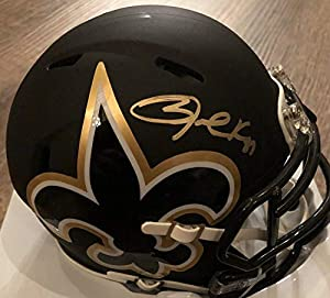 Authentic Autographed Jared Cook New Orleans Saints Mini Helmet Beckett Amp