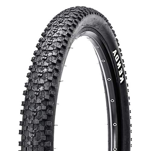 BUCKLOS【UK Stock Mountain Bike Tyre, Tough Wire Bead Bicycle Tyres Clincher Trail MTB Tyres Puncture Resistant High Grip 24x1.95/26x1.95/26x2.1in AM XC Cross-country