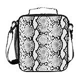ZZXXB - Bolsa térmica para el almuerzo, con estampado de serpiente, reutilizable, térmica, bolsa de picnic al aire libre, con correa para el hombro, para adultos, mujeres y hombres