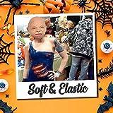 Mascarilla facial de bebé, cara completa de látex de cara de miedo para disfraz de Halloween de fiesta novedad artículo desgaste de la cabeza (A)