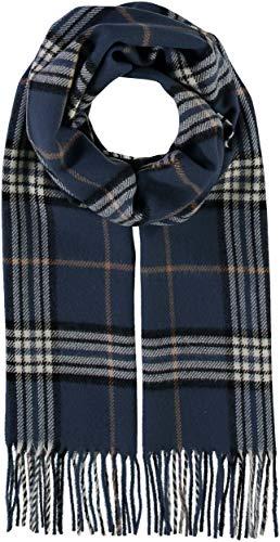 GIORGIO RIMALDI Schal kariert für Damen & Herren - Made in Germany - warmer Schal mit Karomuster - karierter Winter-Schal - hochwertiger Web-Schal, Denim, Einheitsgröße
