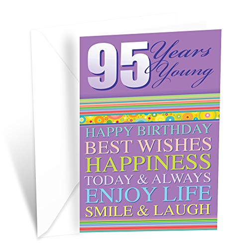 Prime Greetings Happy 95th Birthday Greeting Card