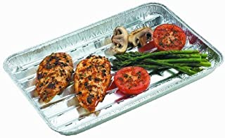 Nicole Home Collection BBQ Grill Pack of 3 Aluminum Pans, Silver