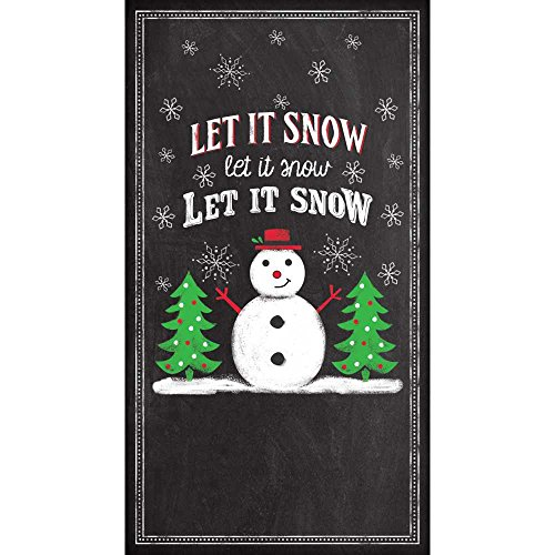 """Paperproducts Design Luxury Guest/Hand Towels (Set of 15), 5"""" x 7"""", Multicolor, Let it Snow Chalkboard"""