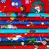 10 Stück Weihnachten Stoff 45,7 x 55,9 cm Baumwolle