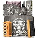 Viking Revolution Beard Care Kit for Men - Ultimate Beard Grooming Kit includes 100% Boar Men's Beard Brush, Wooden… 2
