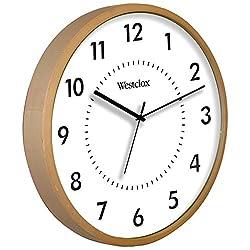 Westclox 32886 Woodgrain Clock