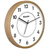 WESTCLOX 32886 - Reloj de madera rubio redondo de 10 pulgadas