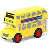 HERCHR Juguete Modelo de Coche, Juguete de Coche de aleación de autobús de Dibujos Animados, Modelo de Juguete de vehículo extraíble para niños de Alta simulación(Amarillo)