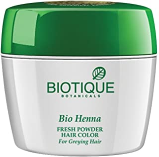 Biotique Bio Heena Fresh Powder Hair Color For Greying Hair, 90gm (Pack of 2)