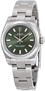 Rolex Lady Oyster Perpetual 26 Olive Green Dial Stainless Steel Rolex Oyster Automatic Watch 176200OVSO