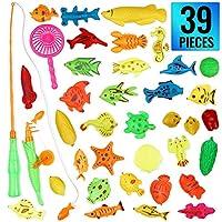 Caratteristiche - Il nostro giocattolo magnetico per la pesca contiene 39 diversi pesci colorati che possono essere catturati con la canna da pesca o la rete inclusa nel set. Giocattolo perfetto, divertente e molto educativo per la coordinazione mano...