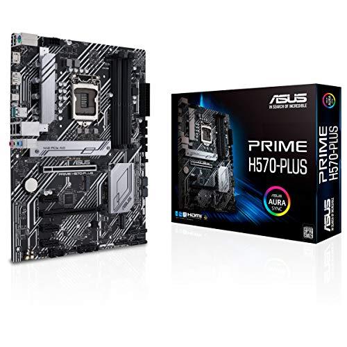 ASUS Prime H570-Plus Mainboard Sockel Intel LGA 1200 (ATX, 2x M.2, Intel 1Gbit/s-Ethernet, USB 3.2 Gen 2, Thunderbolt 4, PCIe 4.0, Aura Sync)