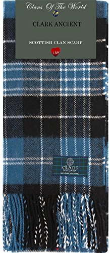 I Luv Ltd Clark Ancient Tartan Clan Scarf 100% Soft Lambswool