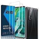 KONEE 【2 + 2 Stück Bildschirmschutzfolie Kompatibel mit Oppo Find X2 Pro + Kamera Panzerglas, [Anti-Kratzen, Fingerabdruck Kompatibel] Flexibler TPU Schutzfolie für Oppo Find X2 Pro