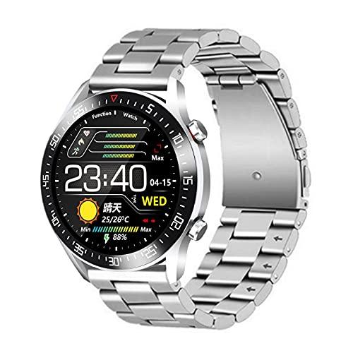 GJPSXTY Reloj inteligente para hombres con monitor de presión arterial, impermeabilidad IP68, frecuencia cardíaca, contador de calorías para iOS y Android B