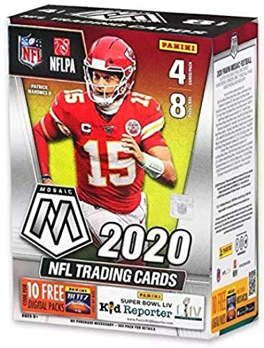 2020 Panini Prizm Mosaic Football Blaster Box - 32 Cards/Box - Look for EXCLUSIVE Autographs or Signature cards from the top rookies. Look for Joe Burrow and Tua Tagovailoa Rookies.