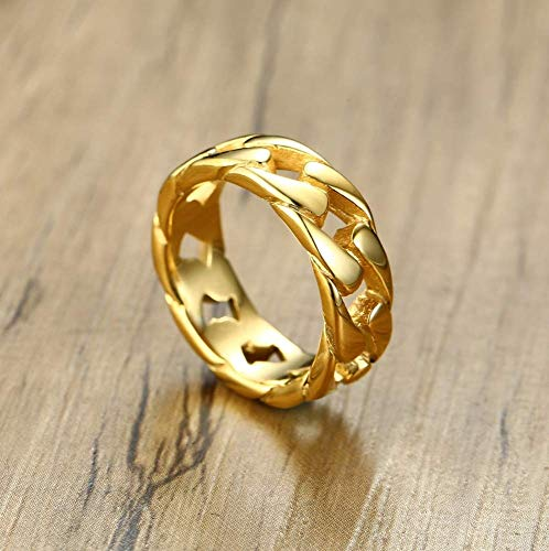 Ring van stof, punk-ketting, creatieve ring van hoogwaardige legering, voor dames en heren, modesieraad, MN 9 Gouden