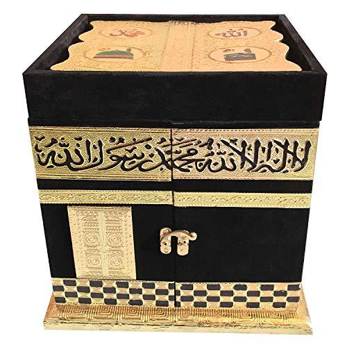 Fasherati Handcrafted Holy Kaba Quran Sharif Box with Quran Stand (KABA Quran Box)