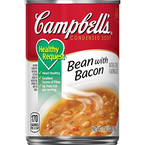 Campbell'sCondensedHealthy RequestBean with Bacon Soup, 11.5 oz. Can (Pack of 12)