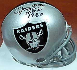 Jim Otto Signed Oakland Raiders Mini Helmet #00 HOF 1980 - Beckett Authentication