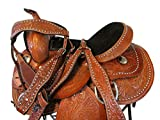 Parade Show Hand Engraved Leather Barrel Racing Western Trail Saddle 14 15 16 (16 Inch)