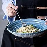 YUEZPKF personalità Dining Thread Shallow Both Bowl insalataio Ciotola Frutta Ciotola tagliatella Ciotola Elegante Minimalista retrò Ceramica Secchio Ciotola Ki
