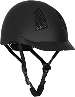 TuffRider Starter Horse Riding Safety Helmet | Schooling Protective Head Gear for Equestrian Riders - SEI Certified, Tough and Durable - Black