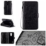 Qiaogle Téléphone Coque - PU Cuir Rabat Wallet Housse Case pour LG G4 Stylus H635 / LG G Stylo /...