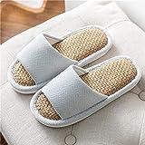 slippers mujer cerradas,2020 nuevas zapatillas de algodón de otoño e invierno para el hogar interior antideslizante calidez pareja de felpa medio paquete de suela gruesa con zapatos de mes-café mt09_