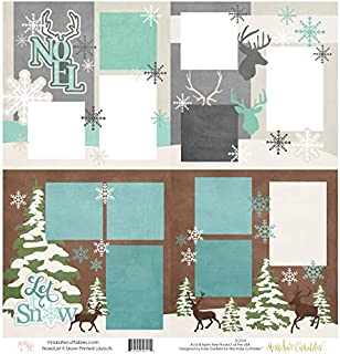 Two Printed Layouts - Noel & Let it Snow - 2-2 Page 12