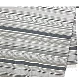 Tex family Toalla de playa FOUTA a rayas beige tamaño grande con mochila Keep Calm 100 x 200 cm