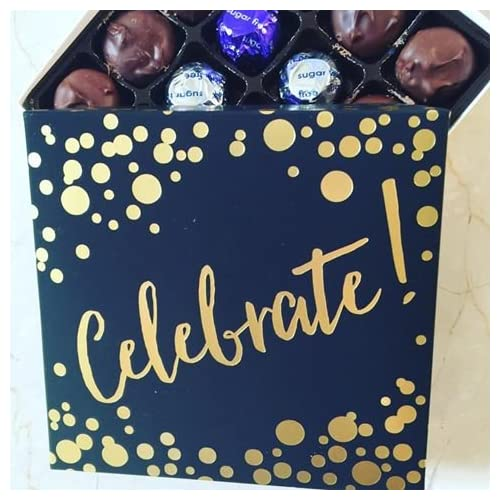Celebrate Gift Box with Sugar Free Assorted Chocolate - made by Diabetic Candy and diabetic friendly