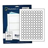 Runde Etiketten für Laserdrucker oder Tintenstrahldrucker, 1,9 cm 2700 Labels