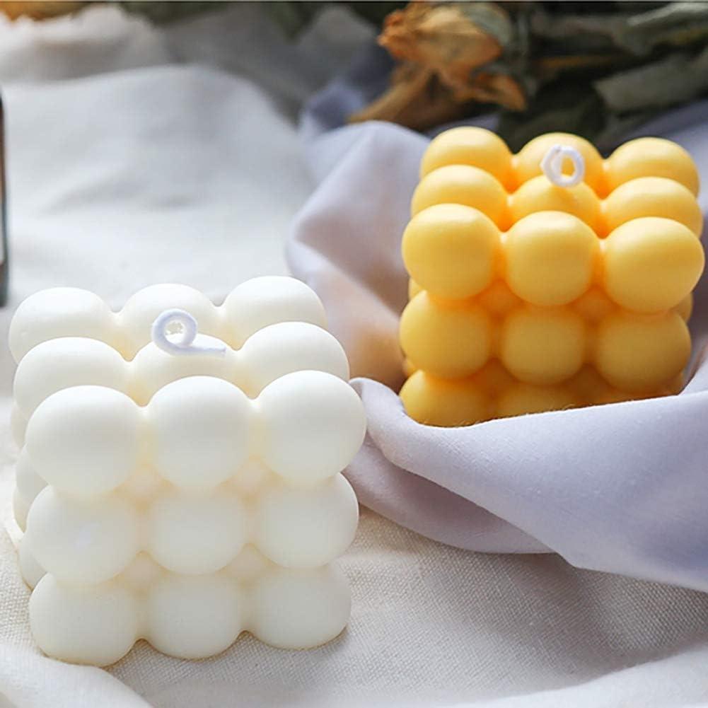 Apofly Kerzen Silikonform Kerzenformen Kerzen Mold DIY 3D Cube-Silikon-Form f/ür Handwerk Ornamente Fondant Duftkerze Soy Wachs Seife 6 Cavity Wei/ß
