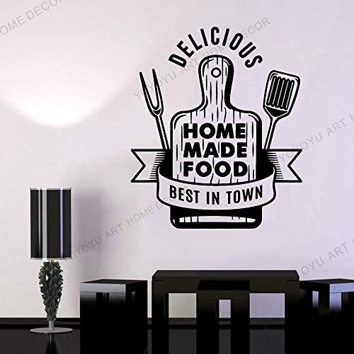 wopiaol Etiqueta engomada de la calcomanía Tabla de Cortar Comida casera Cocina Deliciosa Vinilo Palabras Letras Calcomanías de Pared extraíbles Simples Sala de Estar