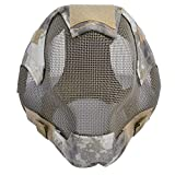 KANGIRU Máscara de Malla de Acero de esgrima Máscara Protectora de Cara Completa para Airsoft al Aire Libre